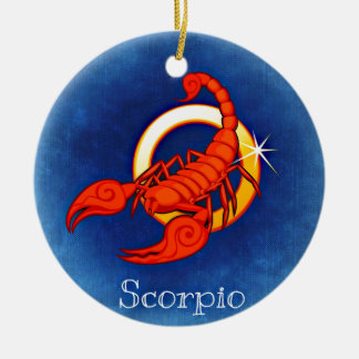 Astrology Sign Scorpio Round Ceramic Decoration