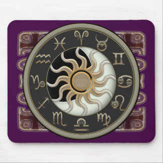 Astrology Sun and Moon Design Mouse Pad