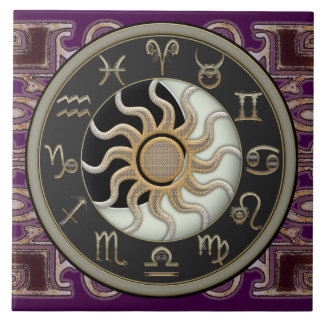 Astrology Sun and Moon Tile