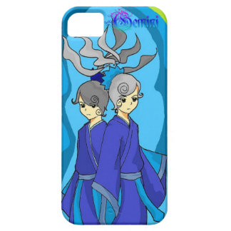 Astrology symbol for Gemini in blue Phone Case