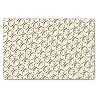 Astrology Zodiac Sign Cancer Gold Symbol Elegant Tissue Paper