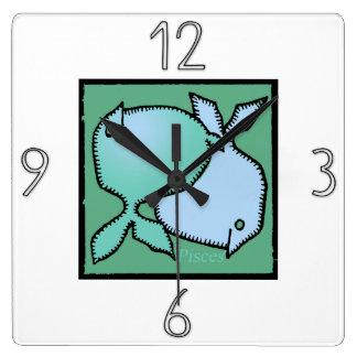 Astrology Zodiac Sign Pisces Wall Clock