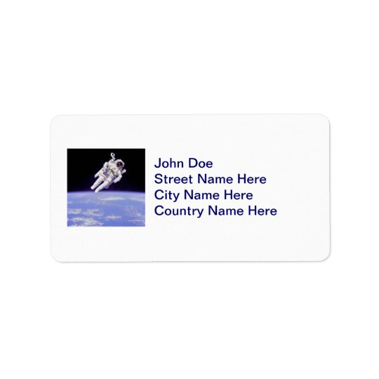 Astronaut Address Label