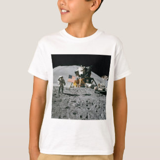 Astronaut and American Flag Apollo Moon Mission T-Shirt