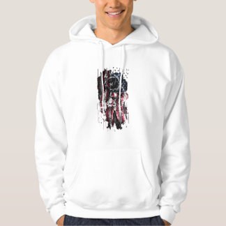 Astronaut and american flag hoodie