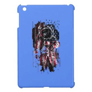 Astronaut and american flag iPad mini case