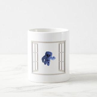 Astronaut behind the window coffee mug