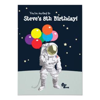 Astronaut Birthday Party Invite