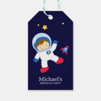 Astronaut Boy Kids Birthday Party Gift Tags