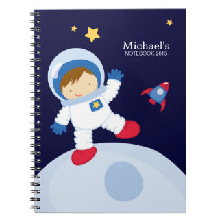 Astronaut Boy Kid's Personalized Note Books