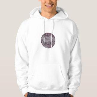 Astronaut Brontosaurus Mountain Moon Circle Mono L Hoodie