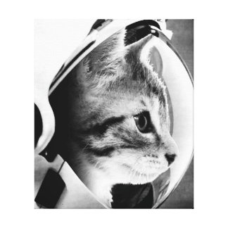 Astronaut Cat #3 Canvas Print