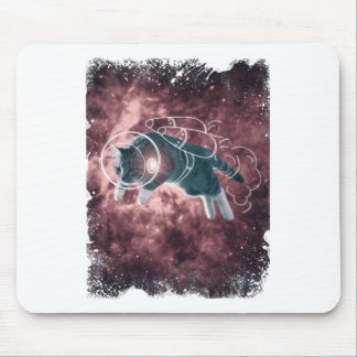 Astronaut Cat Kitten Funny Cosmos Mouse Pad