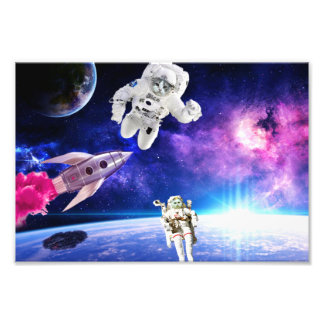 Astronaut Cats In Space Pursued Their Dream 1 Photo Print