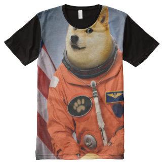 astronaut dog  - doge - shibe - doge memes All-Over print T-Shirt