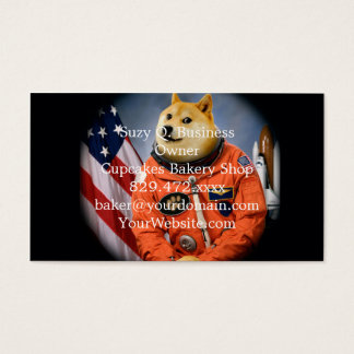 astronaut dog  - doge - shibe - doge memes business card