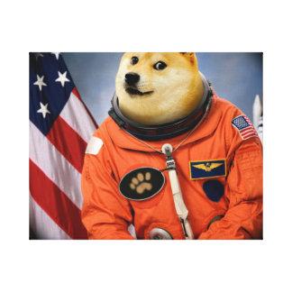 astronaut dog  - doge - shibe - doge memes canvas print