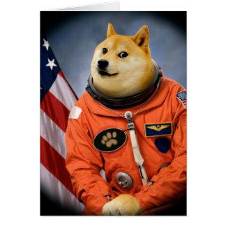 astronaut dog  - doge - shibe - doge memes card