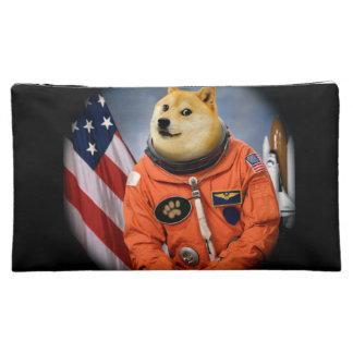 astronaut dog  - doge - shibe - doge memes cosmetic bag