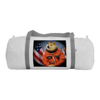 astronaut dog  - doge - shibe - doge memes gym bag