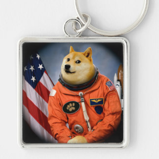 astronaut dog  - doge - shibe - doge memes key ring