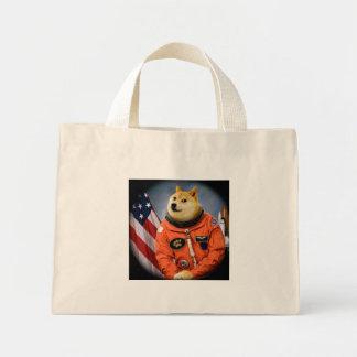astronaut dog  - doge - shibe - doge memes mini tote bag