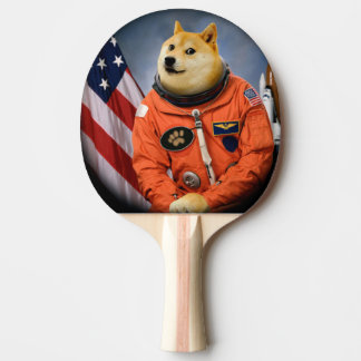 astronaut dog  - doge - shibe - doge memes ping pong paddle