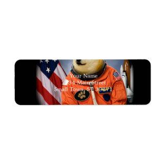 astronaut dog  - doge - shibe - doge memes return address label
