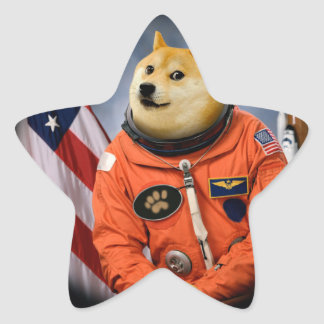 astronaut dog  - doge - shibe - doge memes star sticker