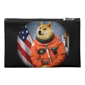 astronaut dog  - doge - shibe - doge memes travel accessory bag