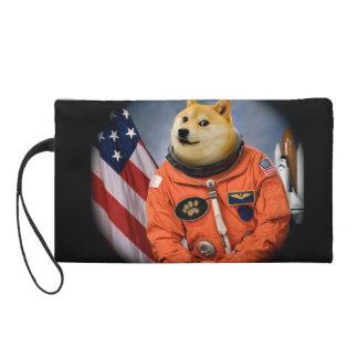 astronaut dog  - doge - shibe - doge memes wristlet