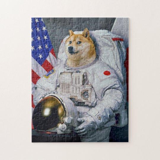 Astronaut Doge Jigsaw Puzzle