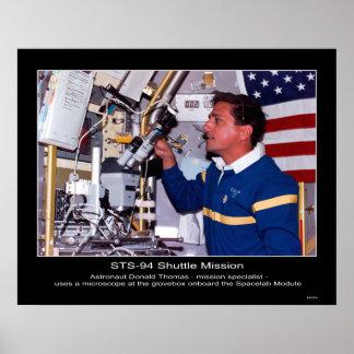 Astronaut Donald Thomas Poster
