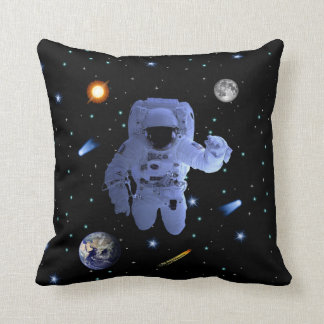 Astronaut Explorer Throw Pillow