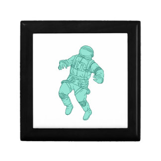 Astronaut Floating in Space Drawing Gift Box