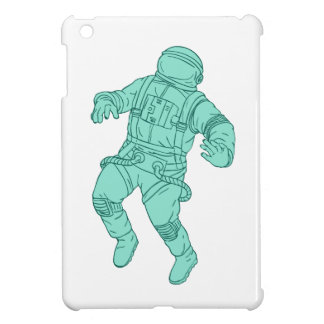 Astronaut Floating in Space Drawing iPad Mini Cases