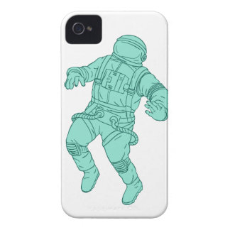 Astronaut Floating in Space Drawing iPhone 4 Case-Mate Case