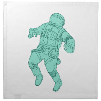Astronaut Floating in Space Drawing Napkin