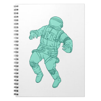 Astronaut Floating in Space Drawing Notebook