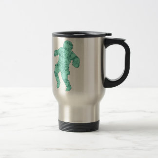 Astronaut Floating in Space Drawing Travel Mug
