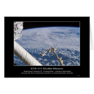Astronaut Franklin R. Chang-Diaz Outer Space STS-1 Card