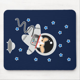 Astronaut Hamster Mouse Pad