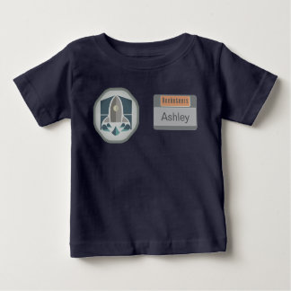 Astronaut Identity Badge and Rocket Logo Baby T-Shirt