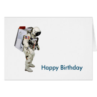 Astronaut image for Birthday-greeting-card Card