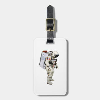 Astronaut image for Luggage-Tag-leather-strap Luggage Tag