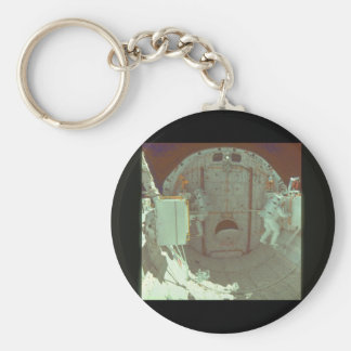 Astronaut in shuttle bay_Space Basic Round Button Key Ring