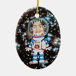Astronaut in Training - Astro Child Template Ceramic Ornament