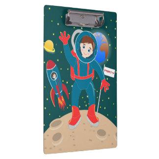 Astronaut kid birthday party clipboard