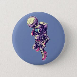 Astronaut Moon Dunk Button - NBA