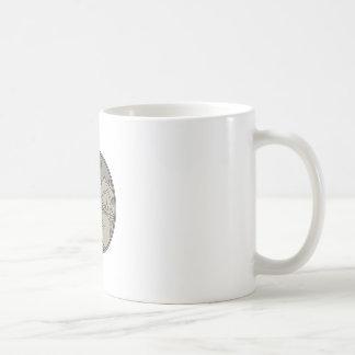 Astronaut Moon Stars Circle Mono Line Coffee Mug